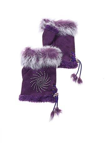 Gants violet VL COLLECTION pour femme
