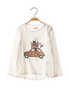 T-shirt manches longues blanc CATIMINI pour fille