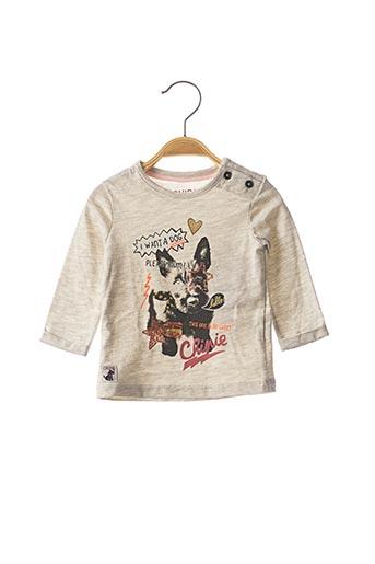 T-shirt manches longues gris CHIPIE pour fille