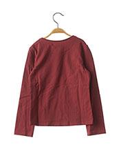 T-shirt manches longues rouge JEAN BOURGET pour fille seconde vue