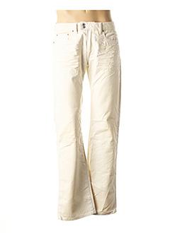 Jeans coupe droite beige DIESEL pour homme
