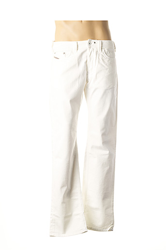 Jeans coupe droite blanc DIESEL pour homme