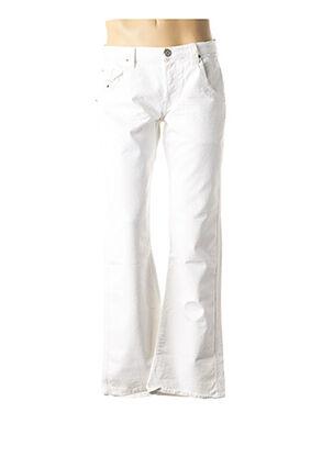 Jeans coupe droite blanc RWD pour homme