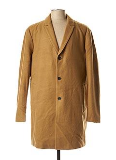 Manteau long marron JACK & JONES pour homme
