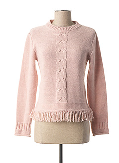 Pull col rond rose VOODOO pour femme