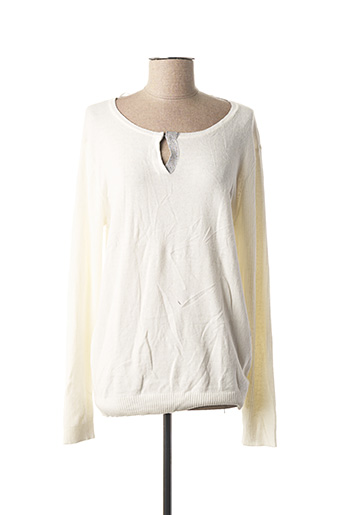 Pull col rond blanc VOODOO pour femme
