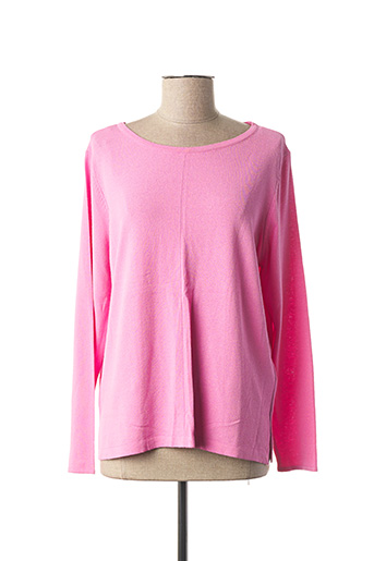 Pull col rond rose STREET ONE pour femme