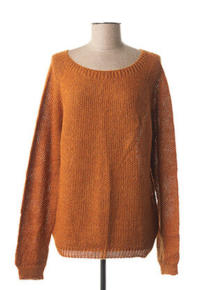 Pull col rond orange VOODOO pour femme
