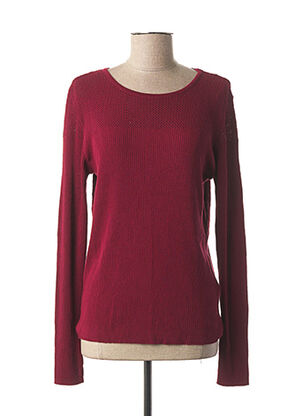 Pull col rond rouge VOODOO pour femme