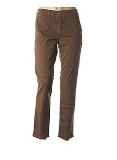 Pantalon 7/8 marron HAPPY pour femme