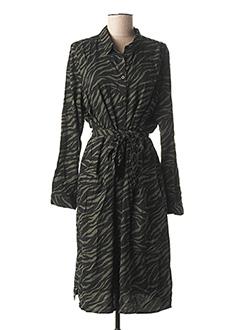 Robe mi-longue vert STREET ONE pour femme