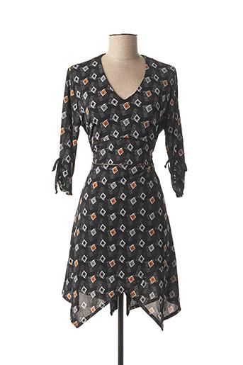 Robe courte noir DOUBLE JEU pour femme