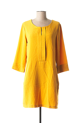 Robe mi-longue jaune PAKO LITTO pour femme
