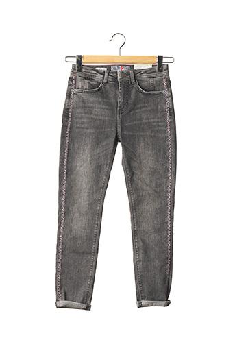 Jeans coupe slim gris STREET ONE pour femme
