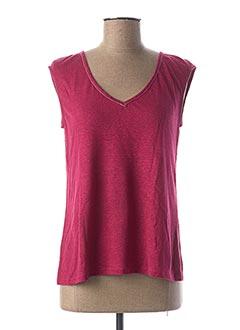 T-shirt manches courtes rose MAE MAHE pour femme