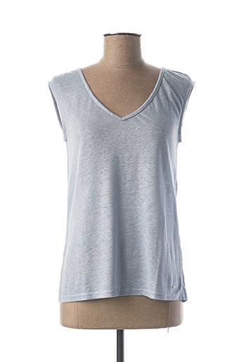 T-shirt manches courtes bleu MAE MAHE pour femme