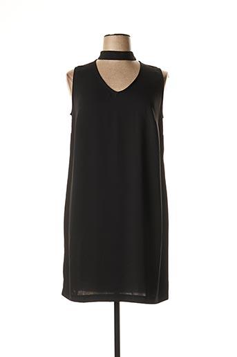 Robe mi-longue noir BLEU D'AZUR pour femme