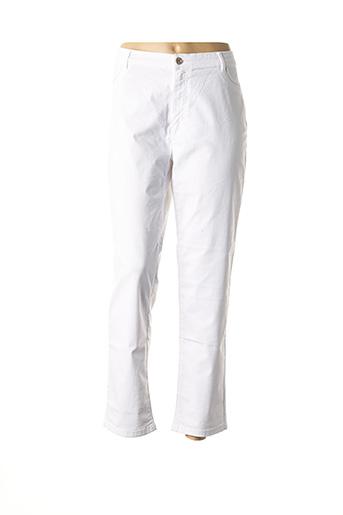 Pantalon casual blanc BRUNO SAINT HILAIRE pour femme