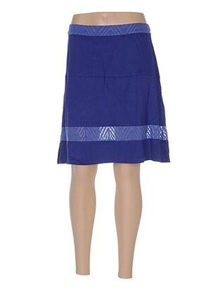 Jupe mi-longue bleu BAMBOO'S pour femme