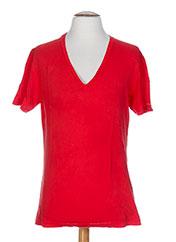 T-shirt manches courtes rouge FREESOUL pour homme seconde vue
