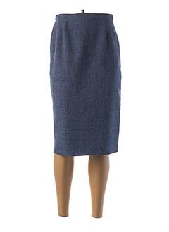 Jupe mi-longue bleu WEINBERG pour femme