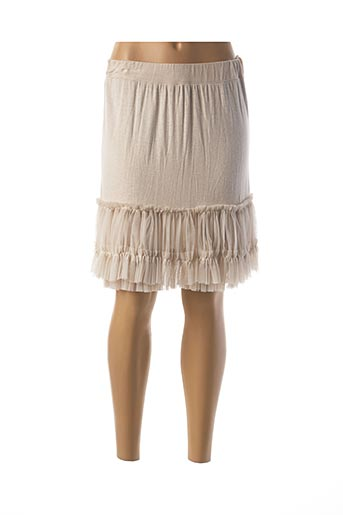 Jupe courte beige CARLA GIANNINI pour femme