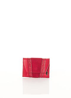 Porte-monnaie rouge BCAT pour femme