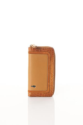 Portefeuille marron BCAT pour femme