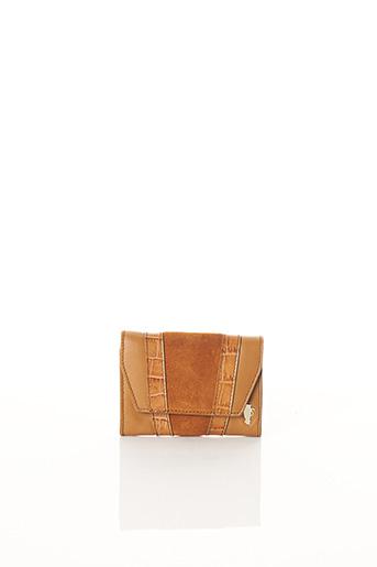 Porte-monnaie marron BCAT pour femme