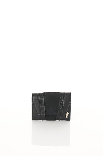 Porte-monnaie noir BCAT pour femme