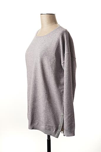 Pull col rond gris MARKUP pour femme
