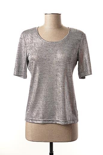 T-shirt manches longues gris EUGEN KLEIN pour femme