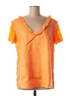 Blouse manches courtes orange JULIE GUERLANDE pour femme