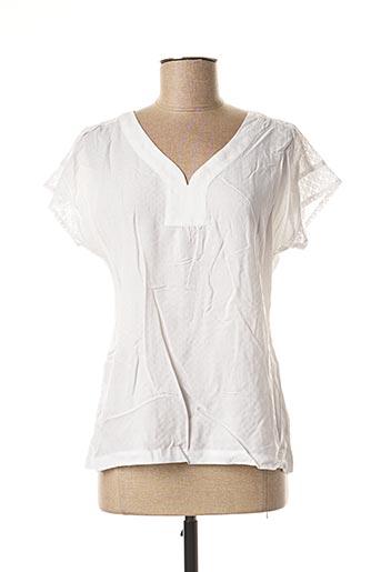 Blouse manches courtes blanc FELINO pour femme