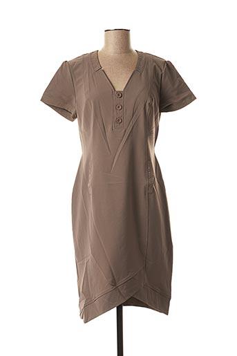 Robe mi-longue marron FELINO pour femme