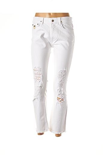 Jeans bootcut blanc APRIL 77 pour femme
