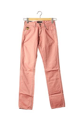 Pantalon casual rose APRIL 77 pour femme