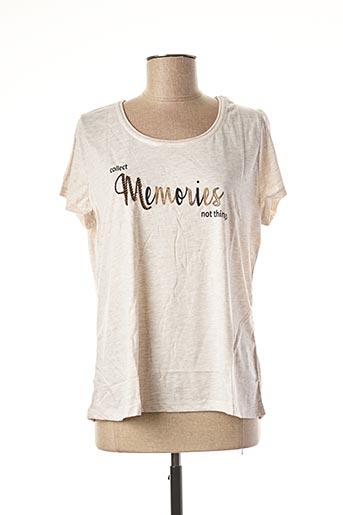 T-shirt manches courtes beige TREND pour femme