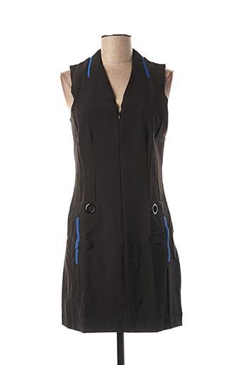 Robe courte noir CAPTAIN TORTUE pour femme