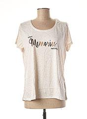 T-shirt manches courtes beige TREND pour femme seconde vue