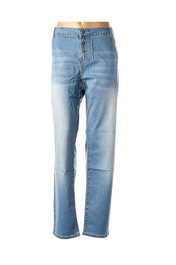 Jeans coupe slim bleu MISS CAPTAIN pour femme