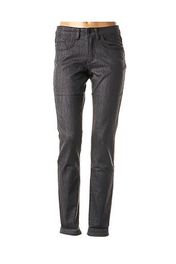 Pantalon casual gris MISS CAPTAIN pour femme
