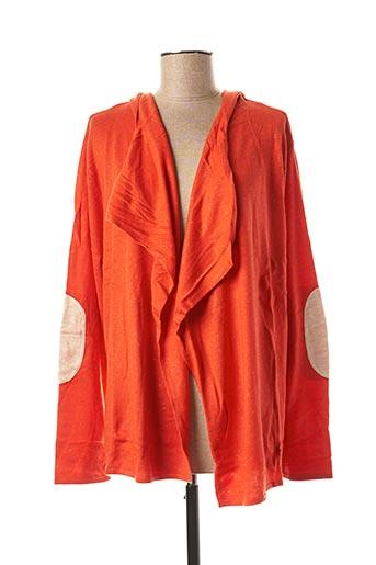 Gilet manches longues orange CAPTAIN TORTUE pour femme