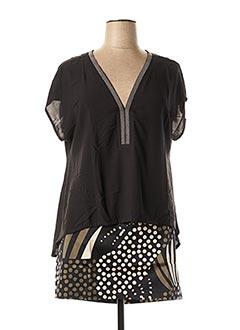 Top/jupe noir TREND pour femme