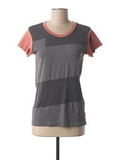 T-shirt manches courtes gris MAISON 123 pour femme