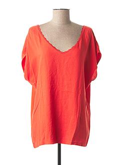 Polo manches courtes orange 1 2 3 pour femme