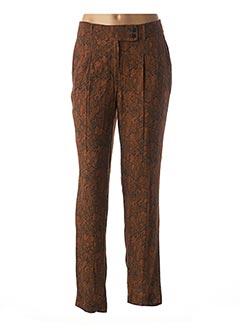 Pantalon chic marron 1 2 3 pour femme