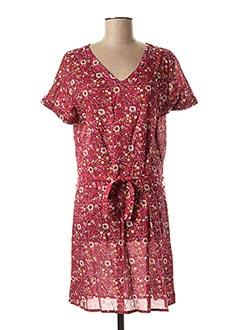 Robe mi-longue rose COLINE pour femme