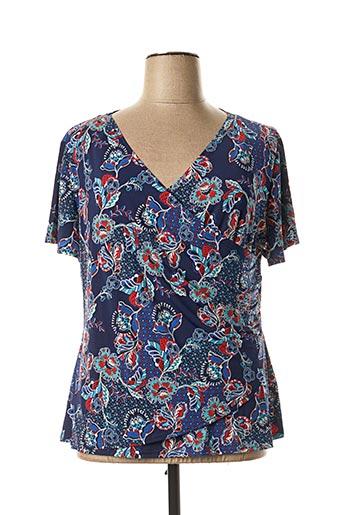 T-shirt manches courtes bleu COLINE pour femme