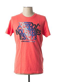 T-shirt manches courtes orange PETROL INDUSTRIES pour homme